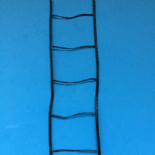 "35MM(13/8"")VENETIAN BLIND LADDER WEBBING-LADDER CORD : BLACK"